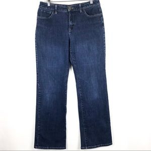 Lands End Bootcut Flare Jeans Size 10 Blue